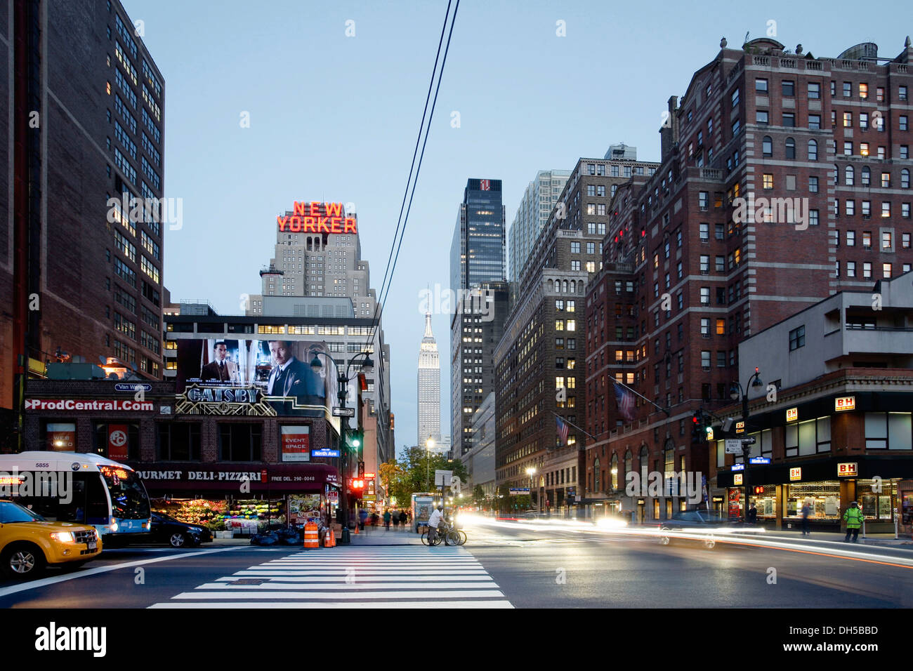 9th Avenue, 34th Street, New Yorker Hotel, Manhattan, New York City, New York, United States - Stock Image