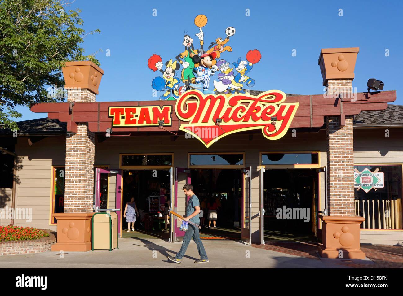 Team Mickey Athletic Club, Downtown Disney Marketplace, Disney World Resort, Orlando Florida - Stock Image