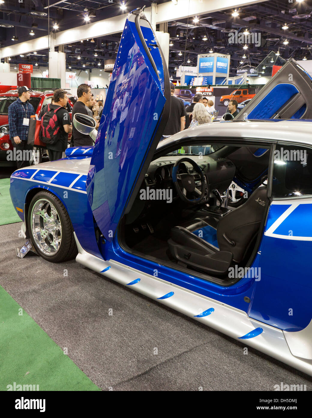 Dodge Charger sport car rebuild with scissor doors - Stock Image