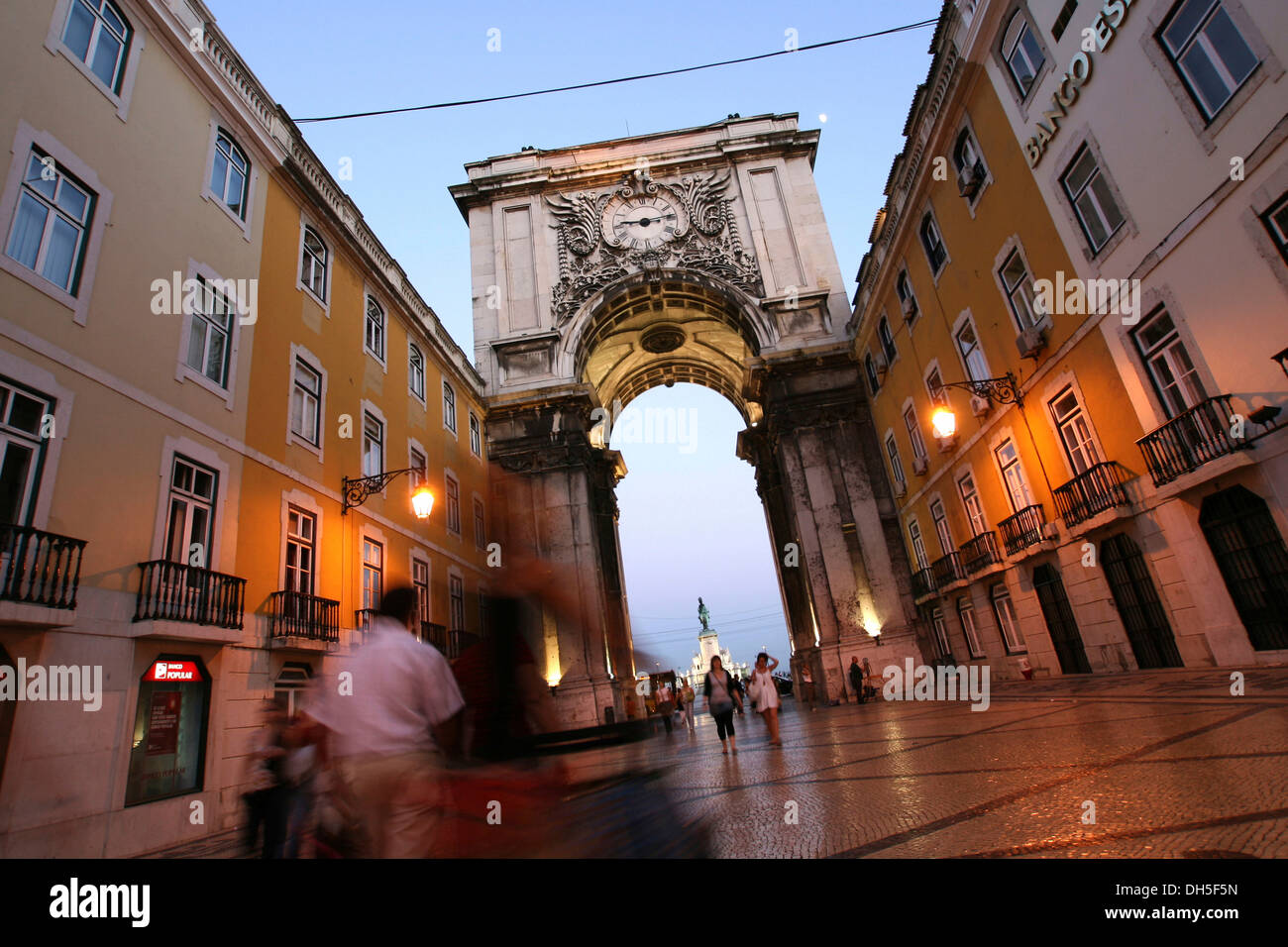 Rua Augusta, Baixa Chiado, Lisbon, Portugal, Europe Stock Photo