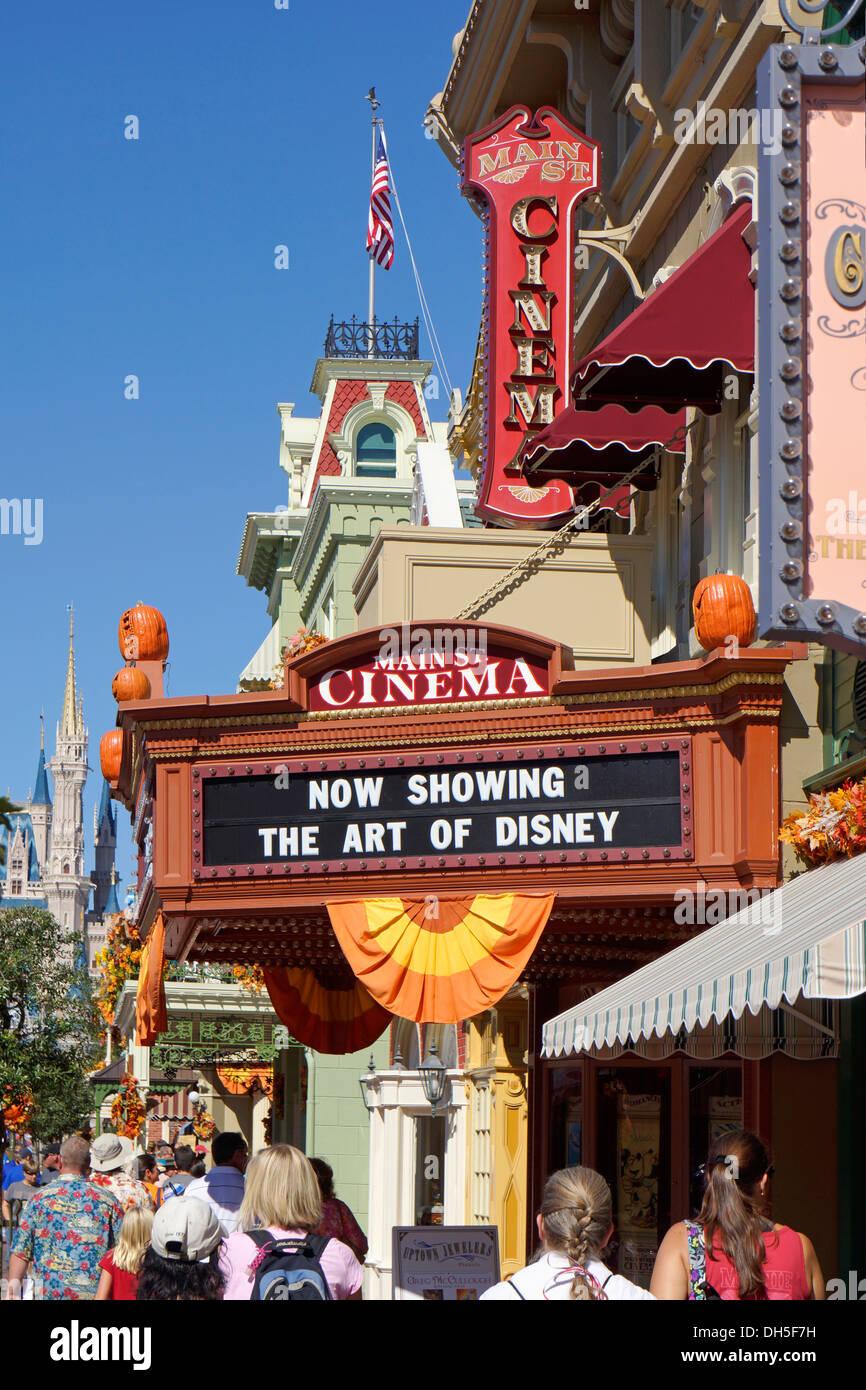 Main St. Cinema at the Magic Kingdom, Disney World Resort, Orlando Florida Stock Photo