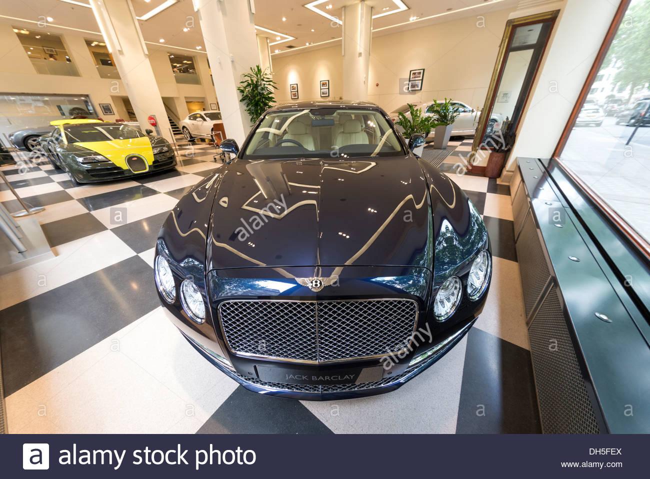 Jack Barclay Bentley car showroom in Berkeley Square, Mayfair, London, England, UK - Stock Image