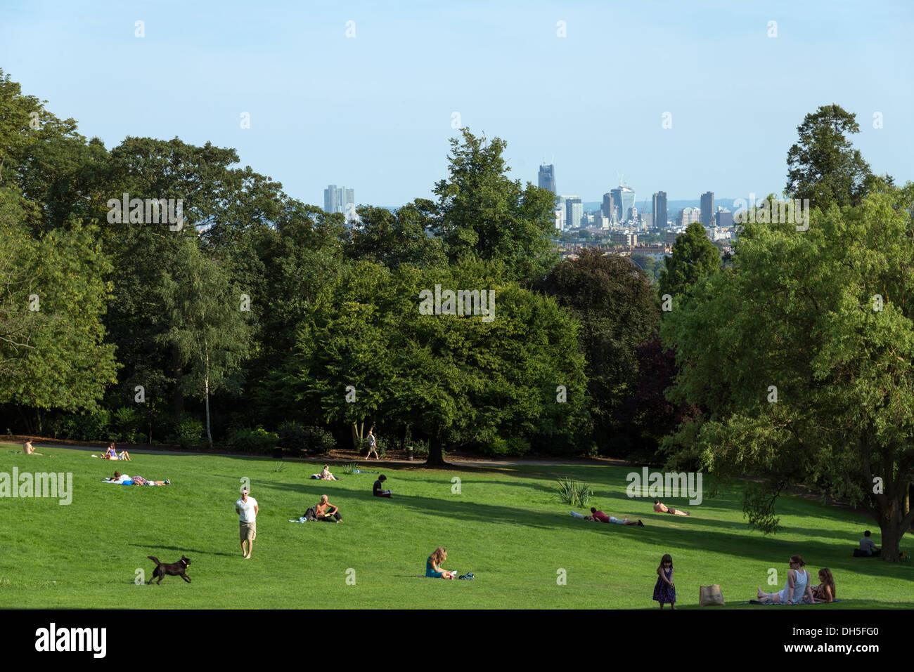 Waterlow Park, Highgate Village, London, England, UK - Stock Image