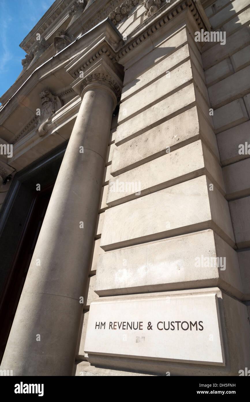 HM Revenue & Customs, Whitehall, London, England, UK - Stock Image