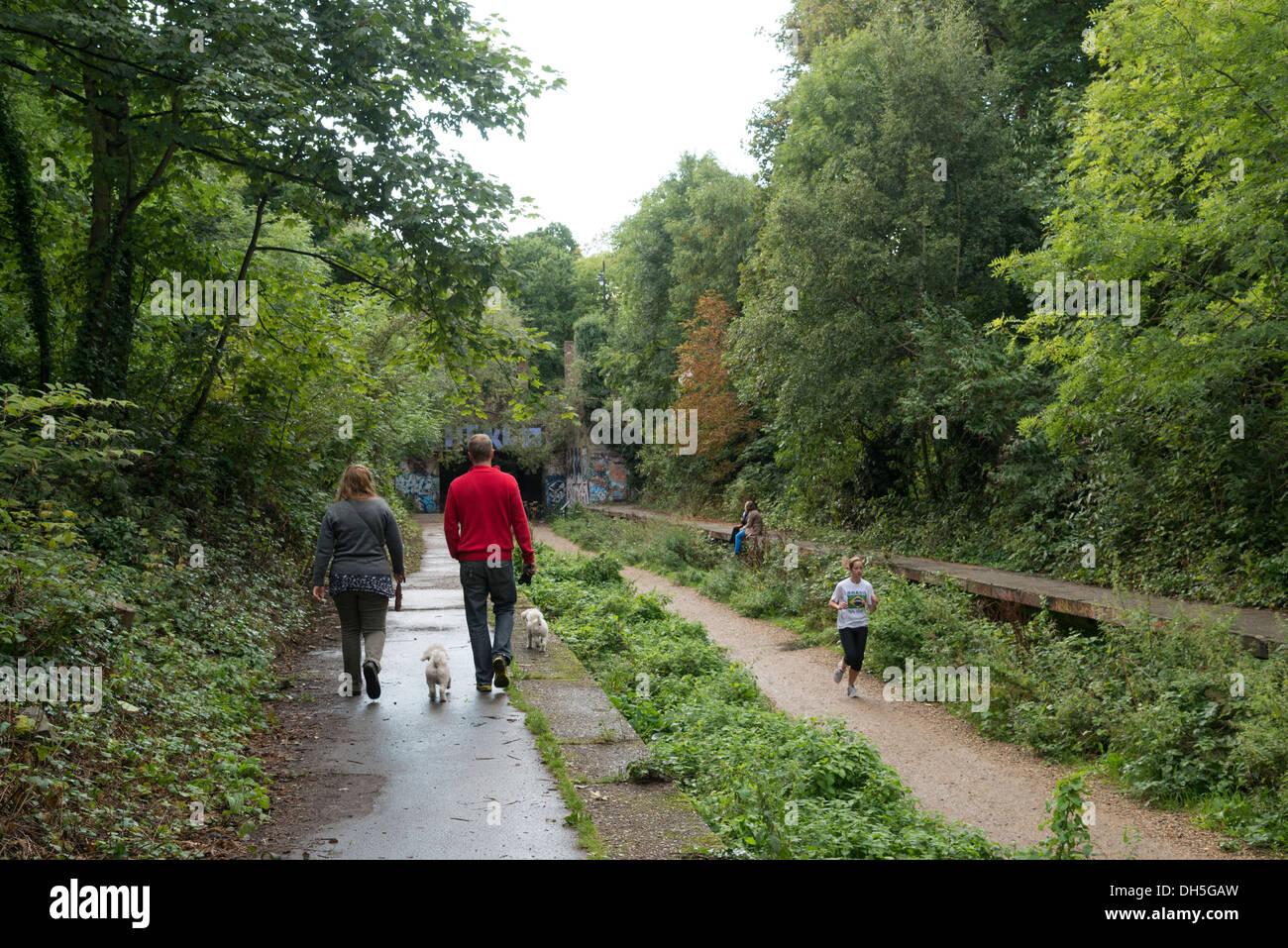 Parkland Walk, London, England, UK - Stock Image