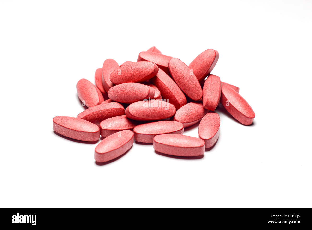 red pills - Stock Image