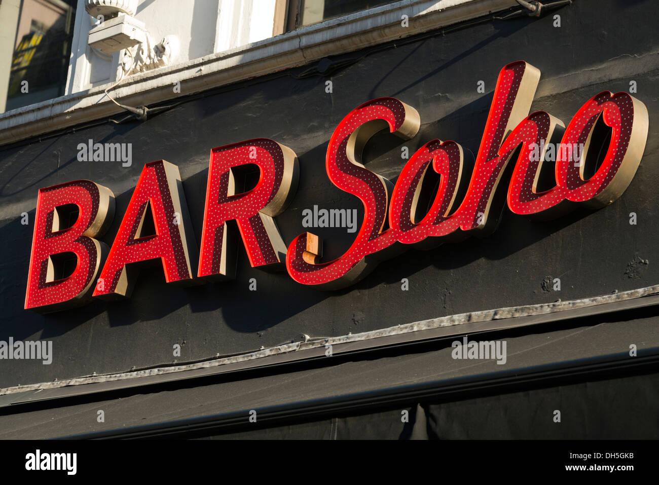 Bar Soho, London, England, UK - Stock Image