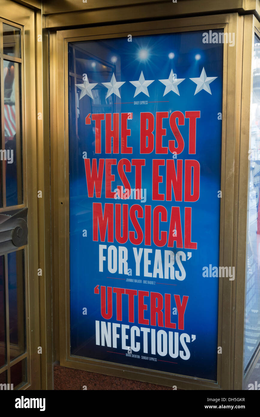 Praise for a show at the Prince Edward Theatre, Old Compton Street, Soho, London, England, UK - Stock Image