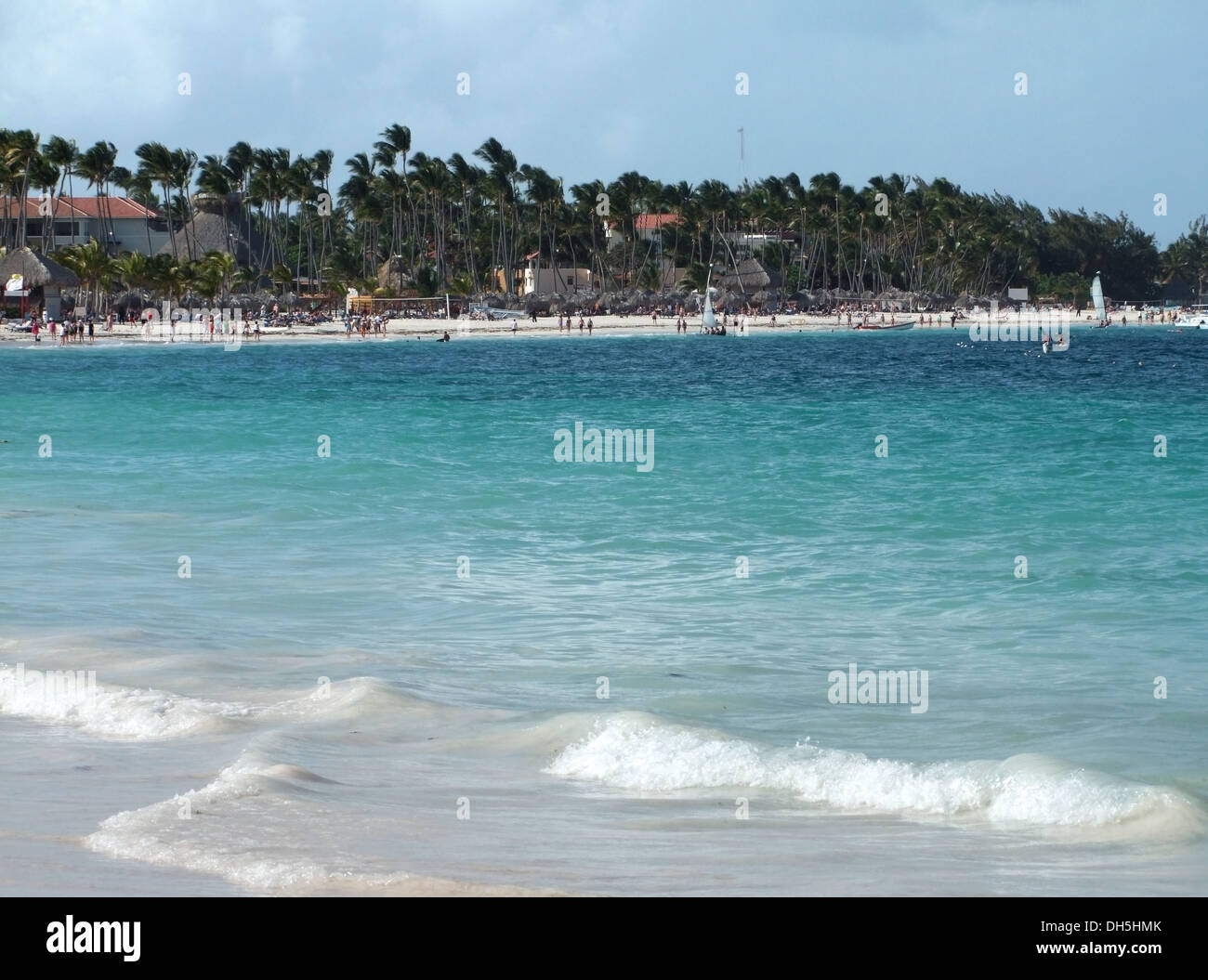 beach scenery at the Dominican Republic - Stock Image