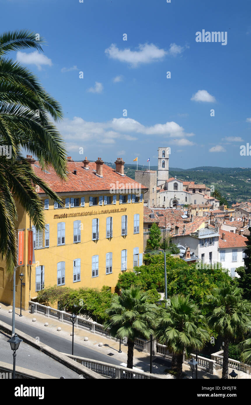 International Perfume Museum & View over Grasse Old Town Alpes-Maritimes France - Stock Image