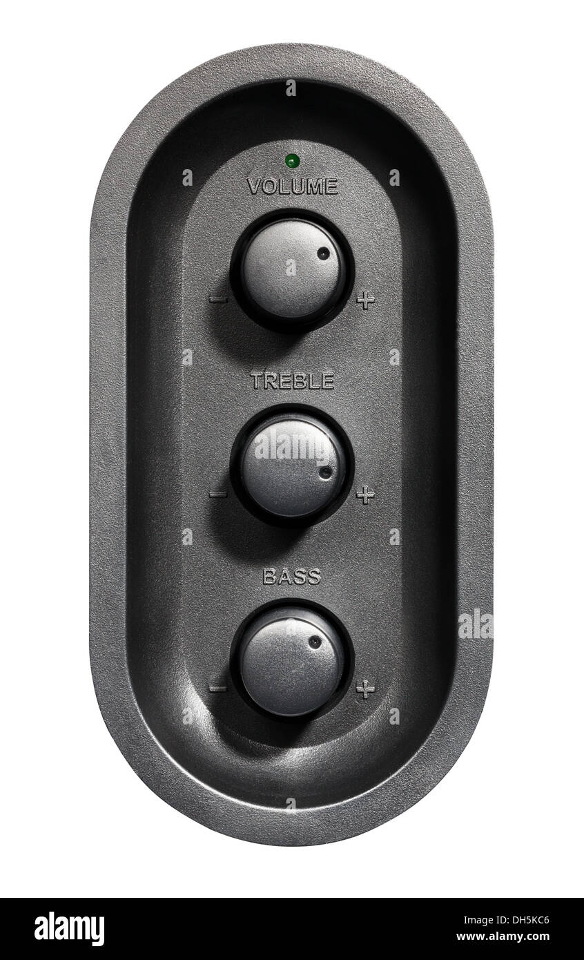 volume control isolated on white background - Stock Image