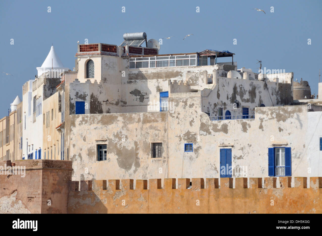 Sqala de la Kasbah, fortifications of the historic town of Essaouria, Mogador, Unesco World Heritatge Site, Morocco, Africa Stock Photo
