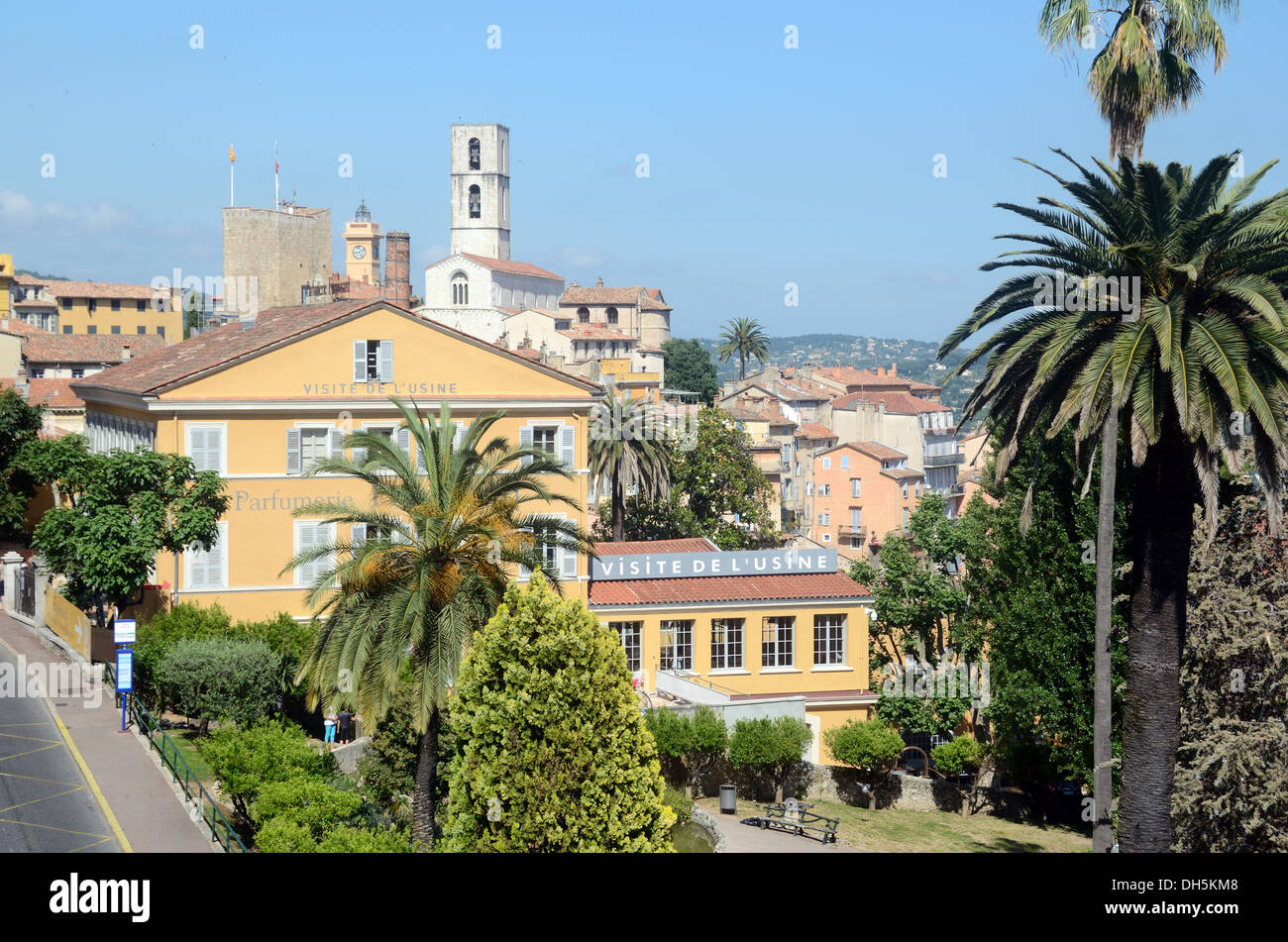 Fragonard Perfumery Museum & Perfume Factory View over Old Town & Gardens Grasse Alpes-Maritimes France - Stock Image