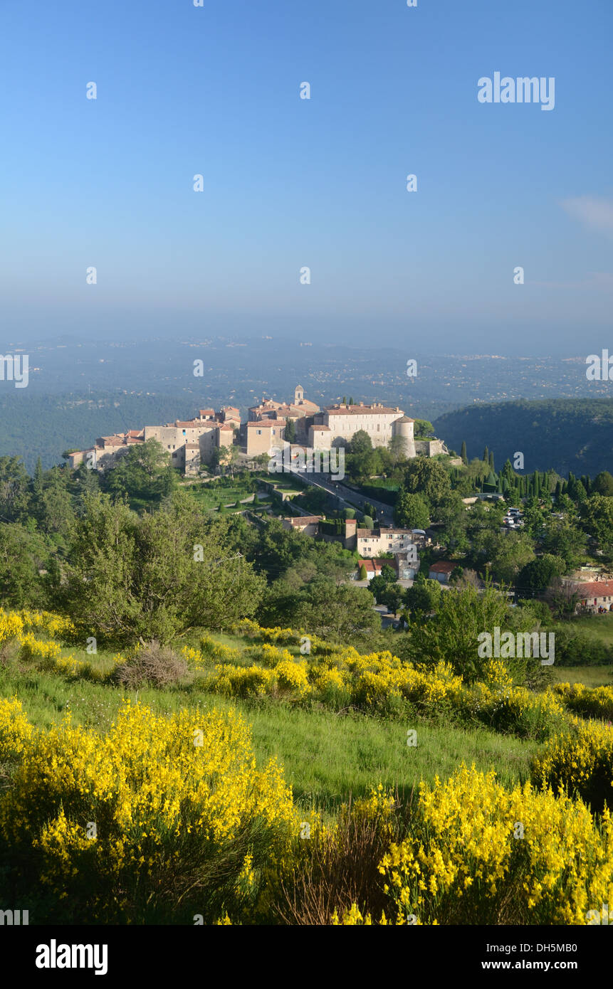 Perched Village of Gourdon Alpes-Maritimes France - Stock Image