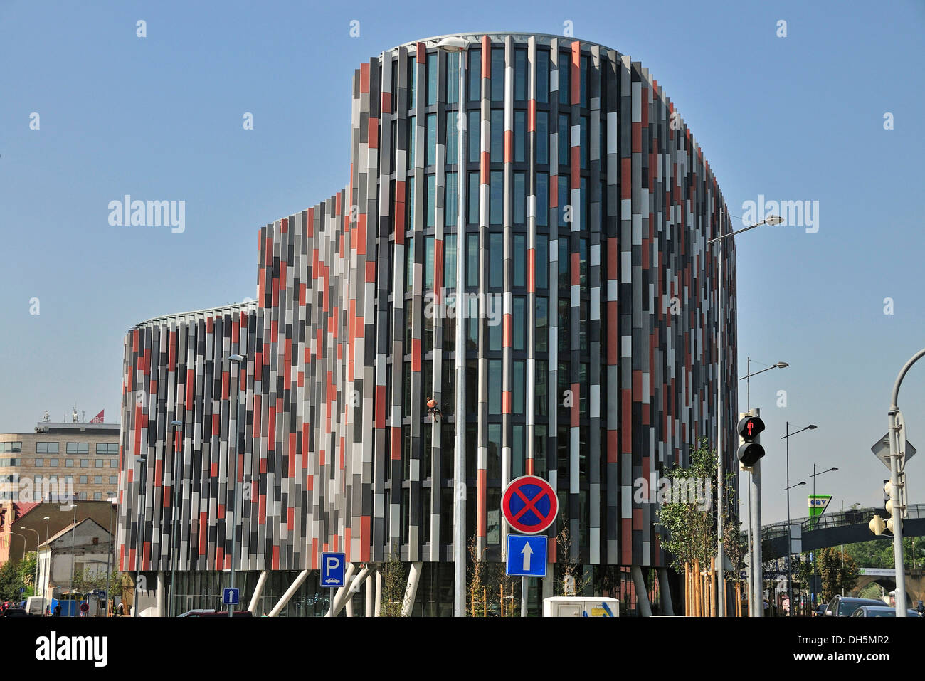 office building facade. Main Point Karlin, Facade Of A Modern Office Building, Which Won The MIPIM Award In 2012, PSJ Invest\u0027s Project With FibreC Building W