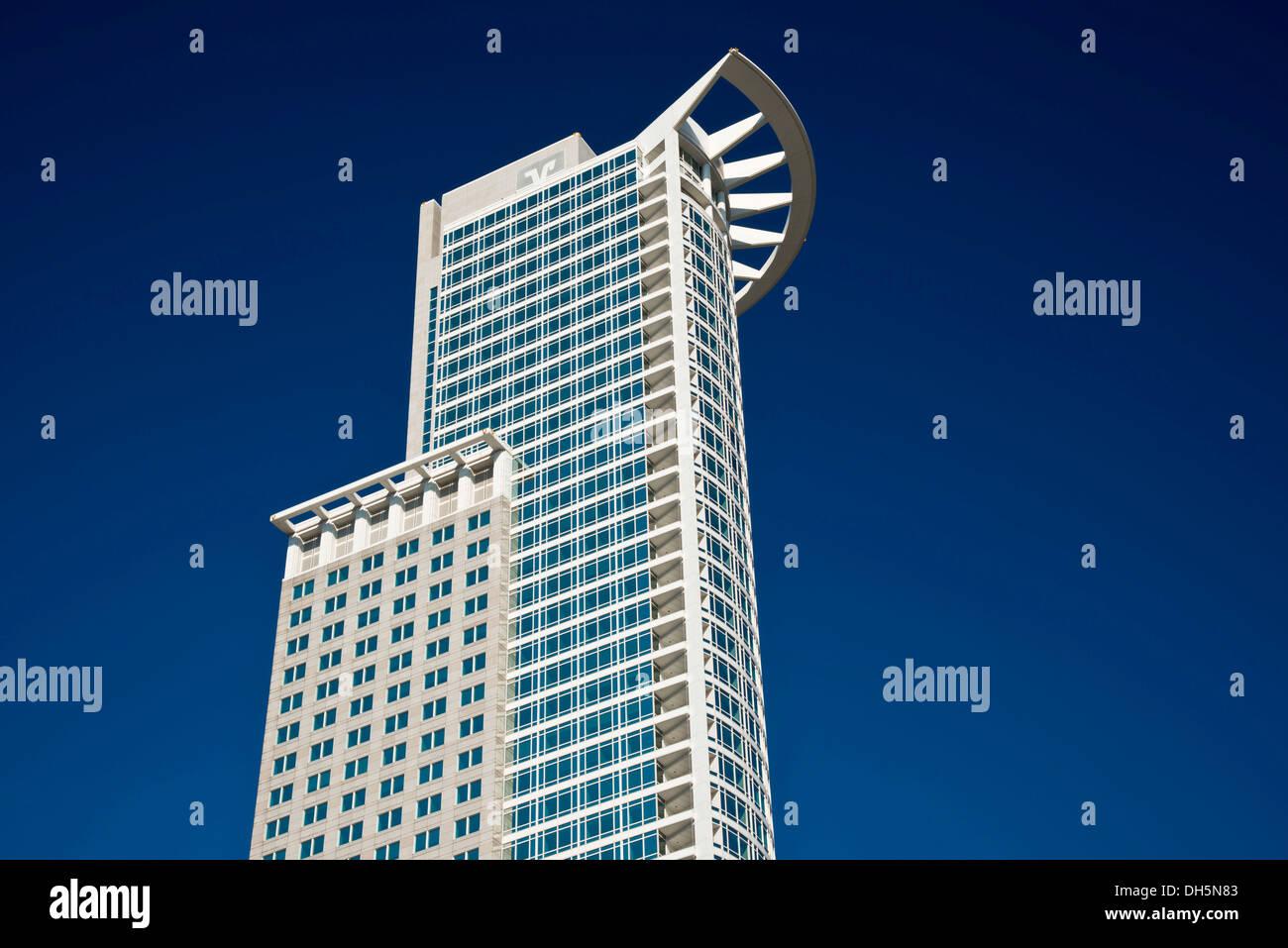 DZ Bank Tower of the DZ Bank AG, Deutsche Zentral-Genossenschaftsbank, German Central Cooperative Bank Stock Photo