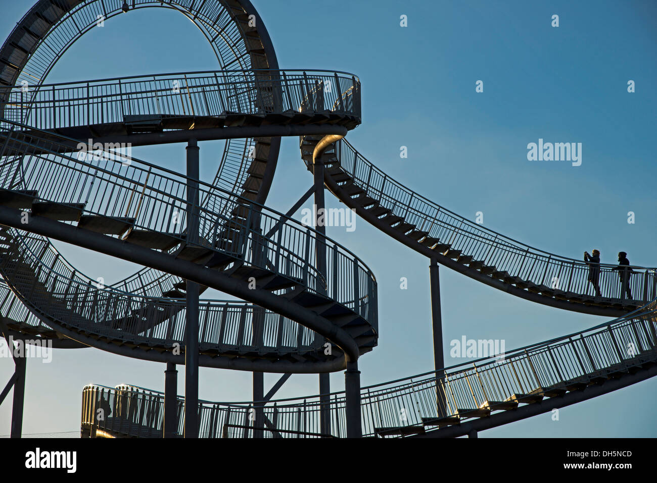 """Landmark """"Tiger & Turtle - Magic Mountain"""" by Heike Mutter and Ulrich Genth, walkable sculpture in the shape of a roller Stock Photo"""