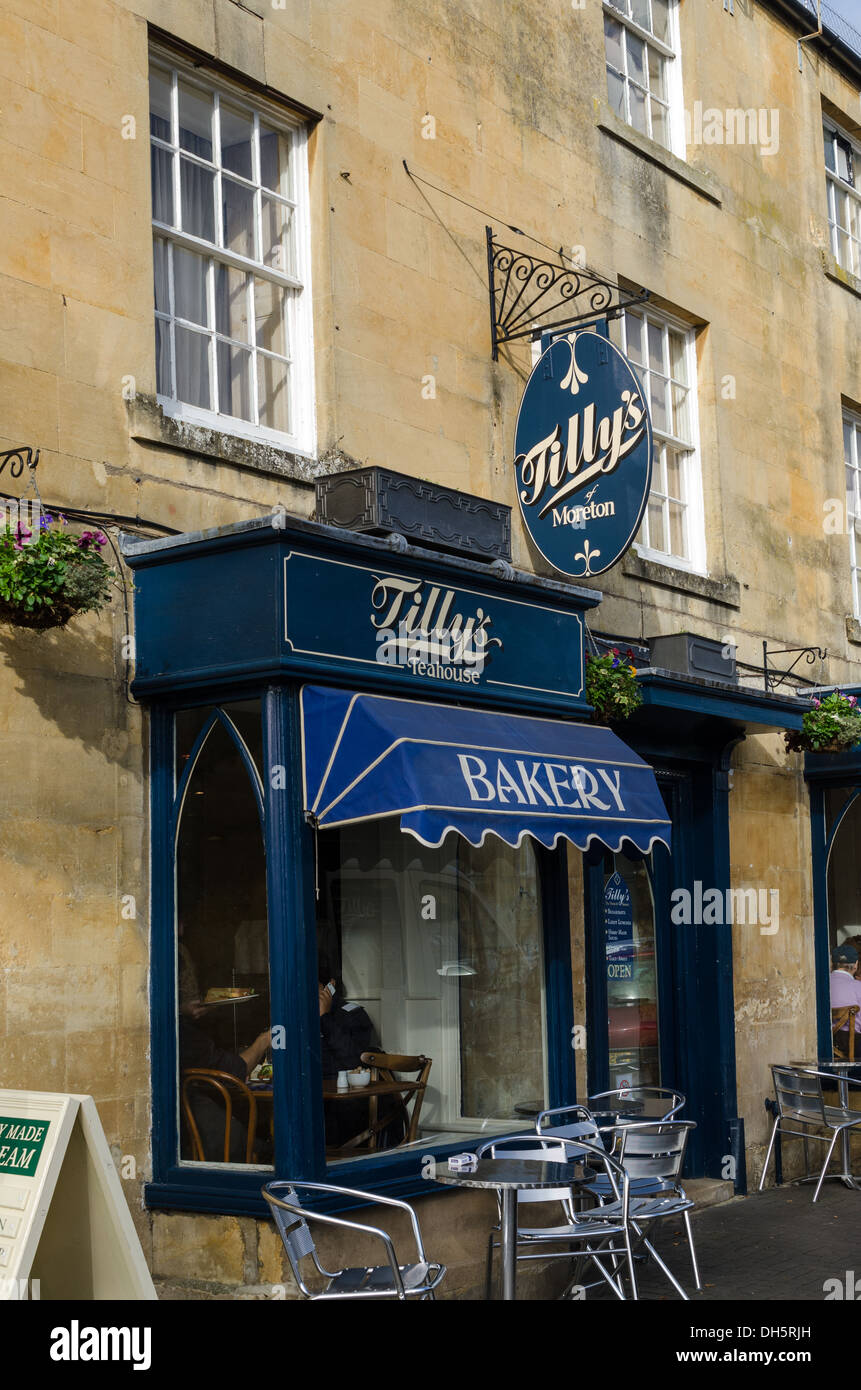 Tilly's Bakery and Teahouse in Moreton-in-Marsh in the Cotswolds Stock Photo