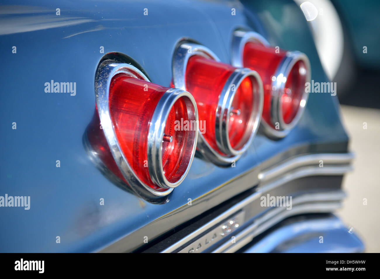 Chevrolet Impala tail lights Classic American car - Stock Image