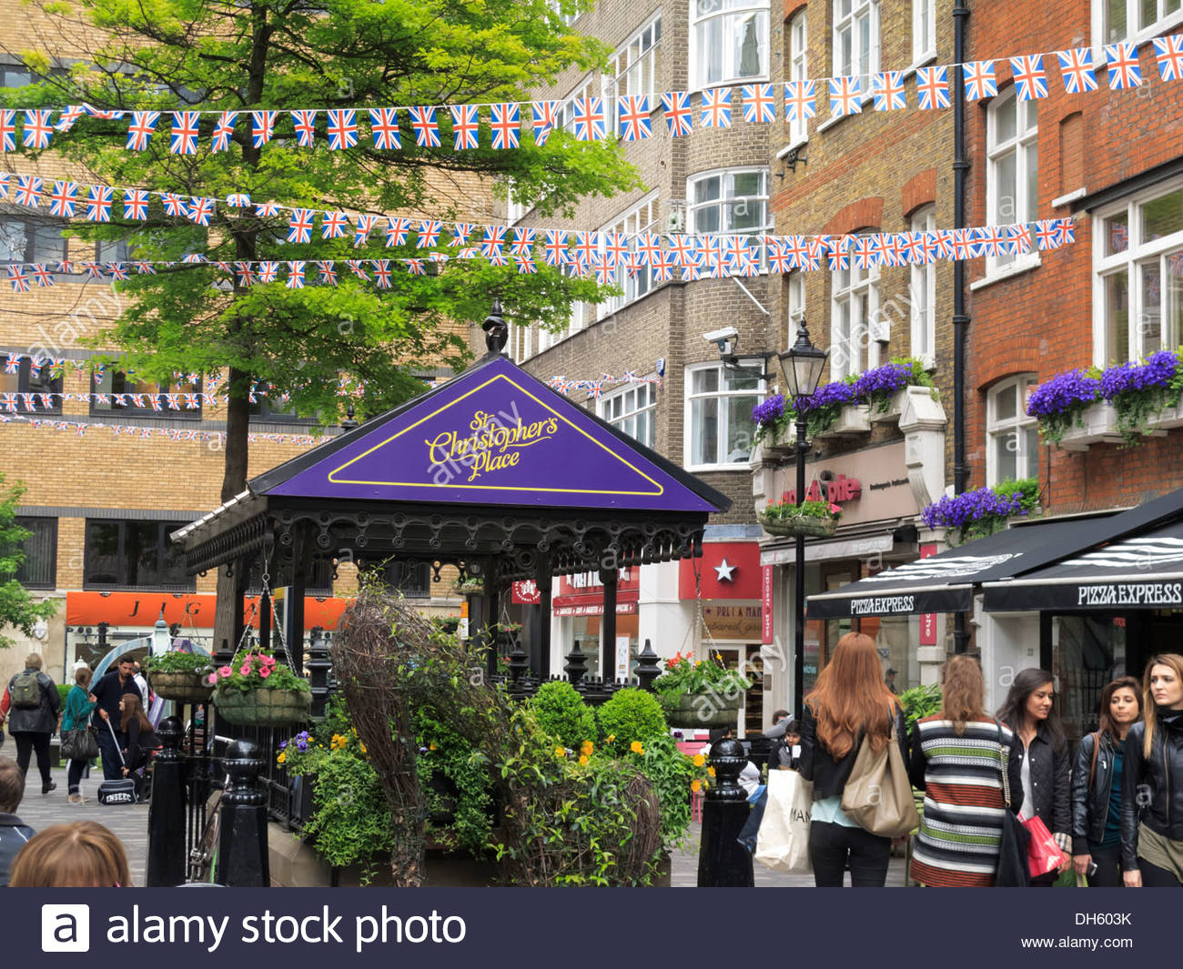 St Christophers Place off Oxford Street West End London England - Stock Image