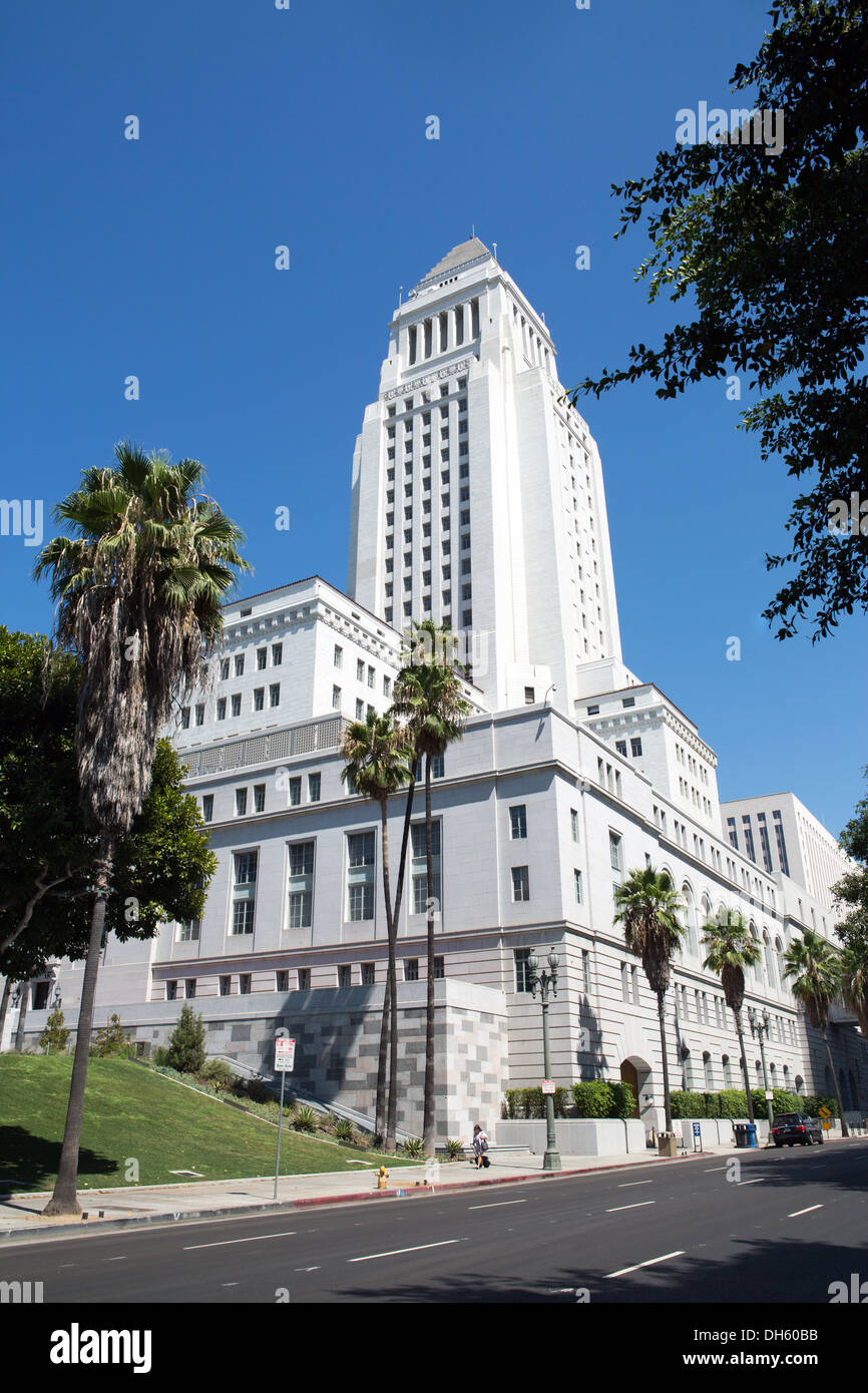The building of the Los Angeles City Hall - Stock Image