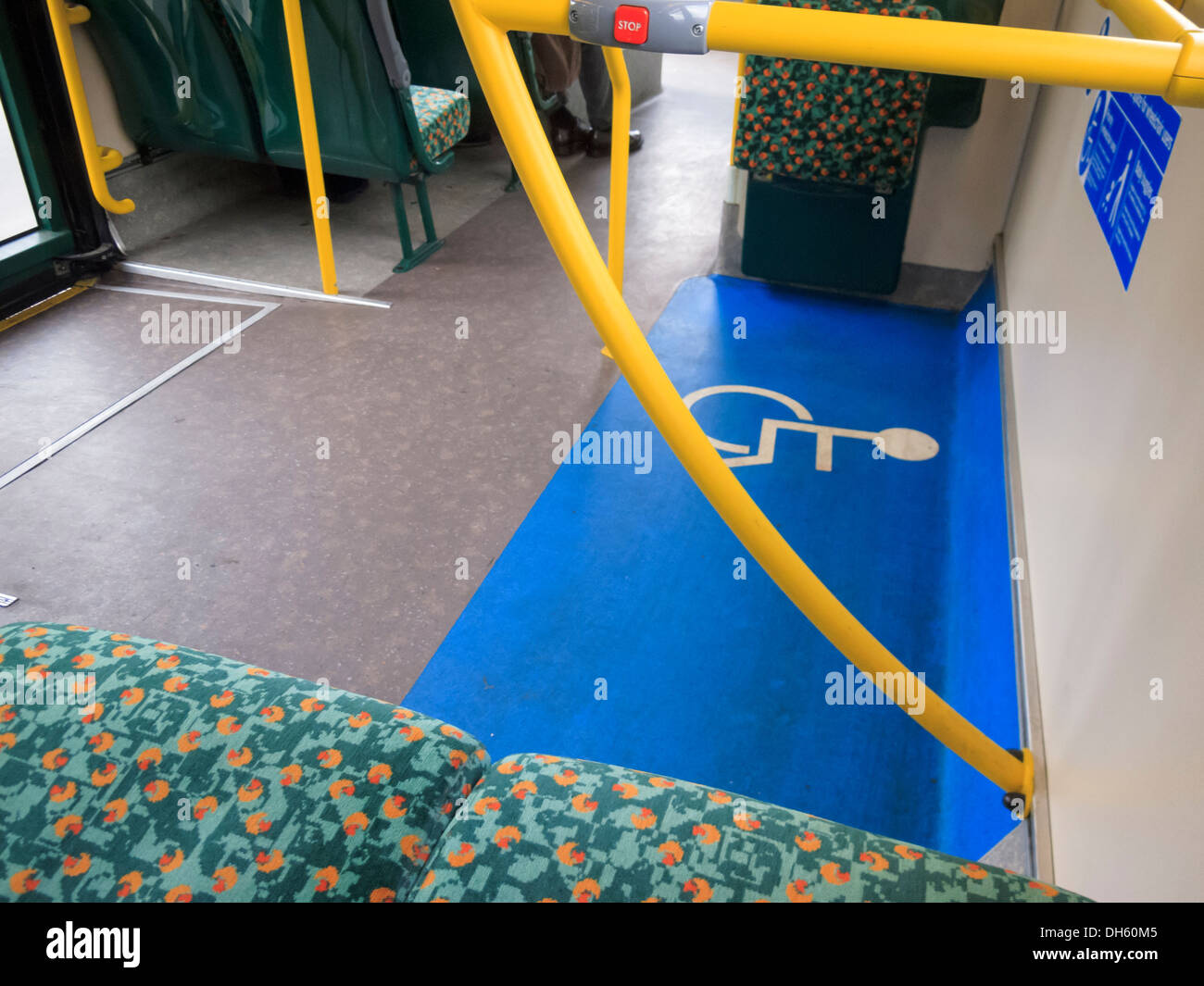 Transport London Bus Disabled space - Stock Image