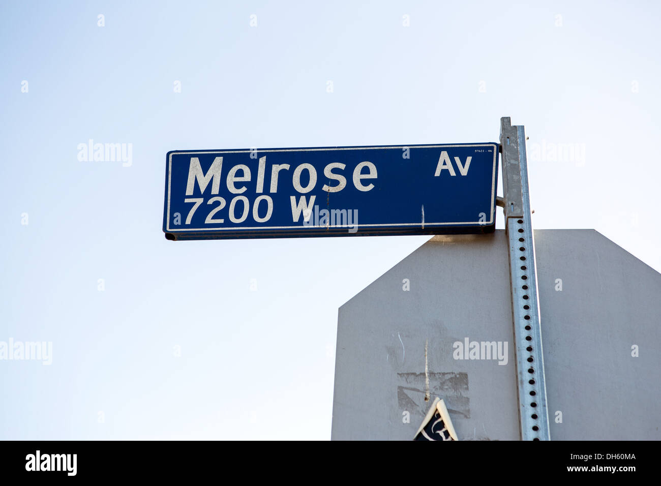 Street sign with the name Melrose avenue - Stock Image
