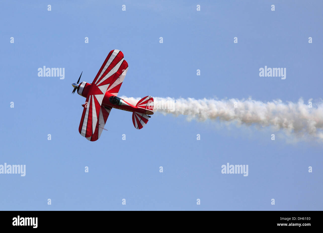 The Pitts S-2S Special Bi-plane performing at Cosford Airshow 2013 Cosford, Shropshire, England, Europe - Stock Image