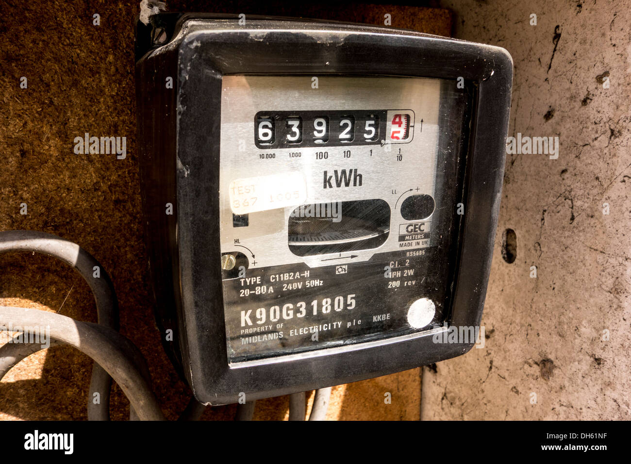 Domestic Electricity Meter Uk Stock Photos Amp Domestic
