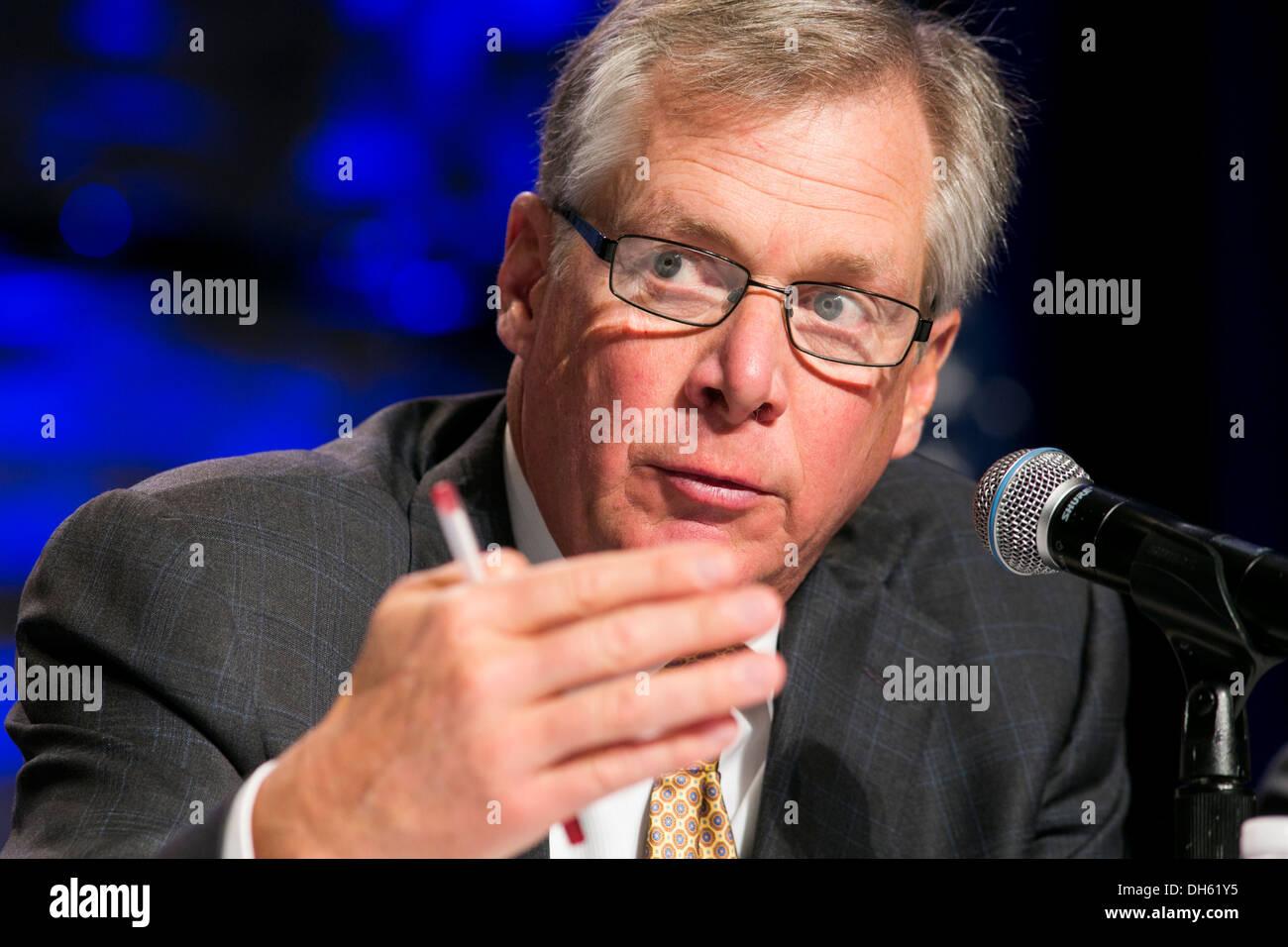 Doug Oberhelman, Chairman and CEO Of Caterpillar. - Stock Image