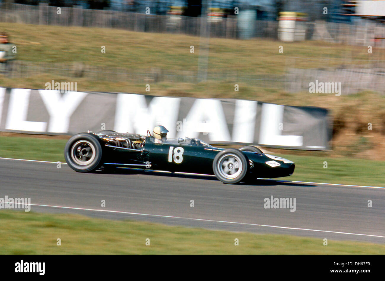 David Hobbs in Bernard White's BRM P261 with 3-litre V12 engine. Brands Hatch, England 17 March 1969. - Stock Image