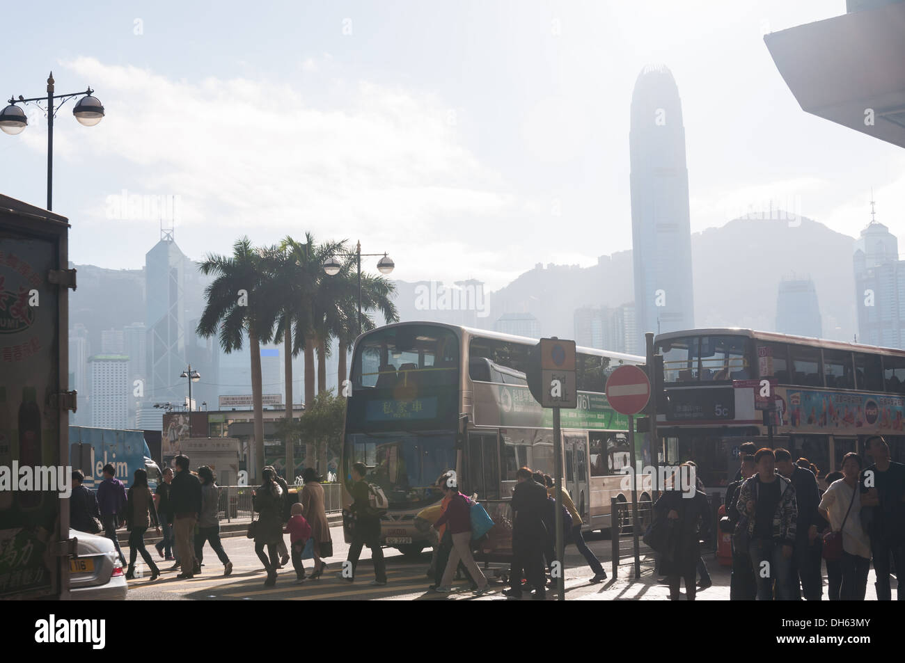 Crosswalk in Kowloon, Hong Kong. - Stock Image