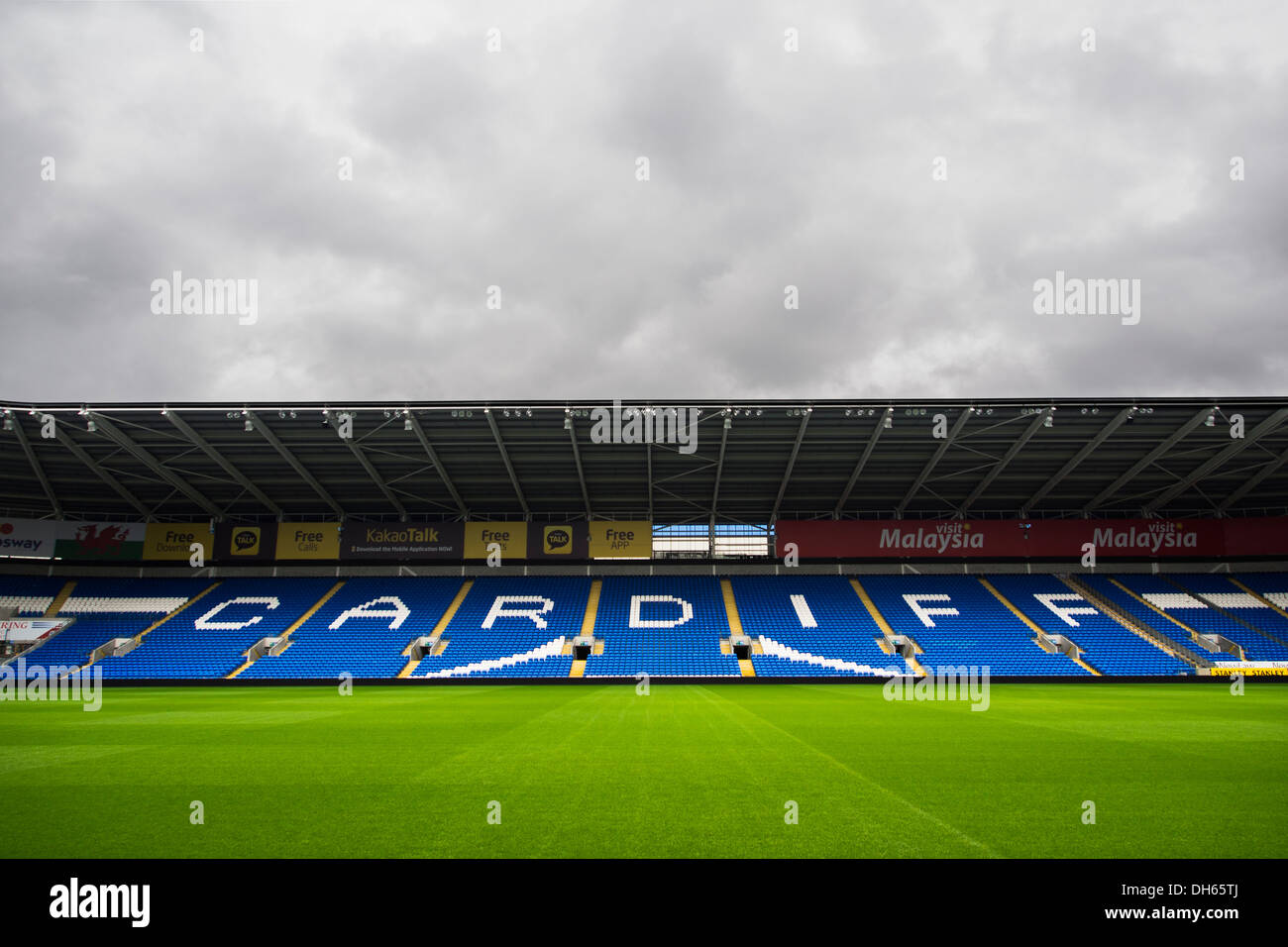 Empty Seats Cardiff City Stadium Stock Photos & Empty
