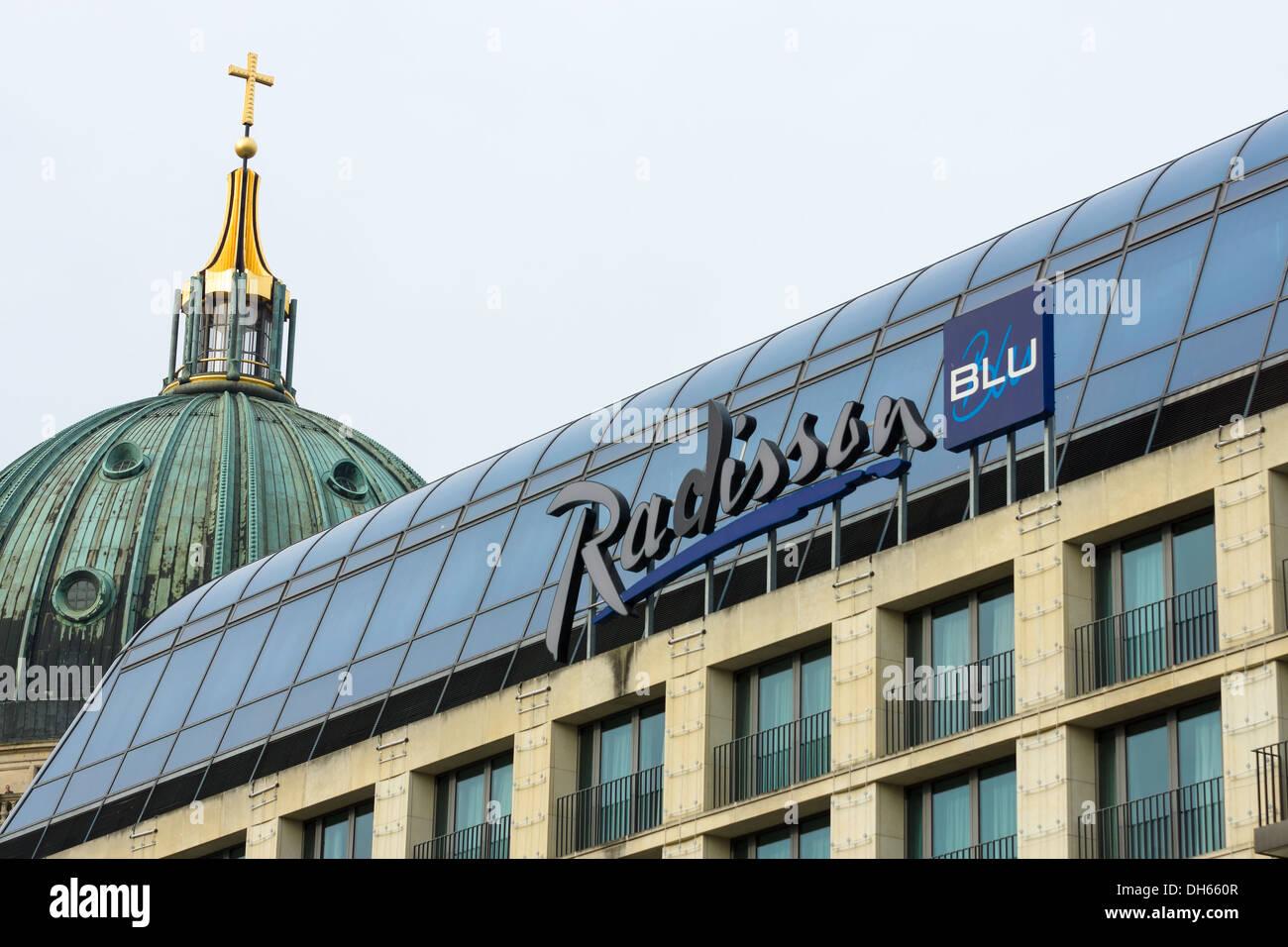 Radisson Blu - Modern Mitte district hotel. Berlin - Stock Image