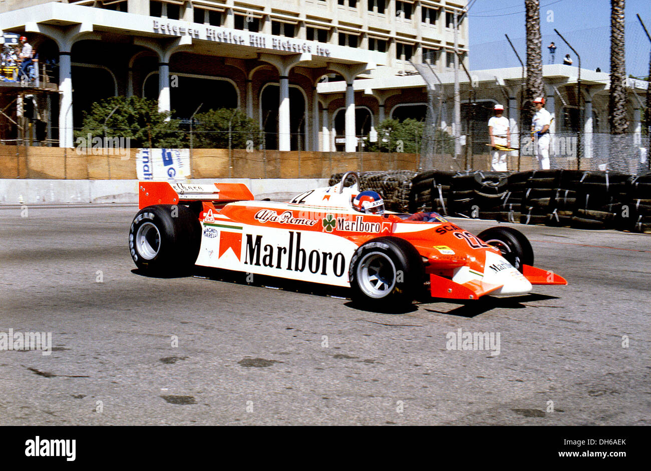 Patrick Depailler in Alfa Romeo 179C retired from the US GP (West), Long Beach, USA 30 March 1980.