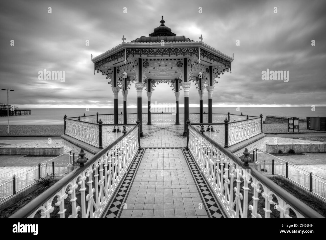 The Victorian Bandstand ( recently restored ) , Brighton , Sussex , England - Stock Image