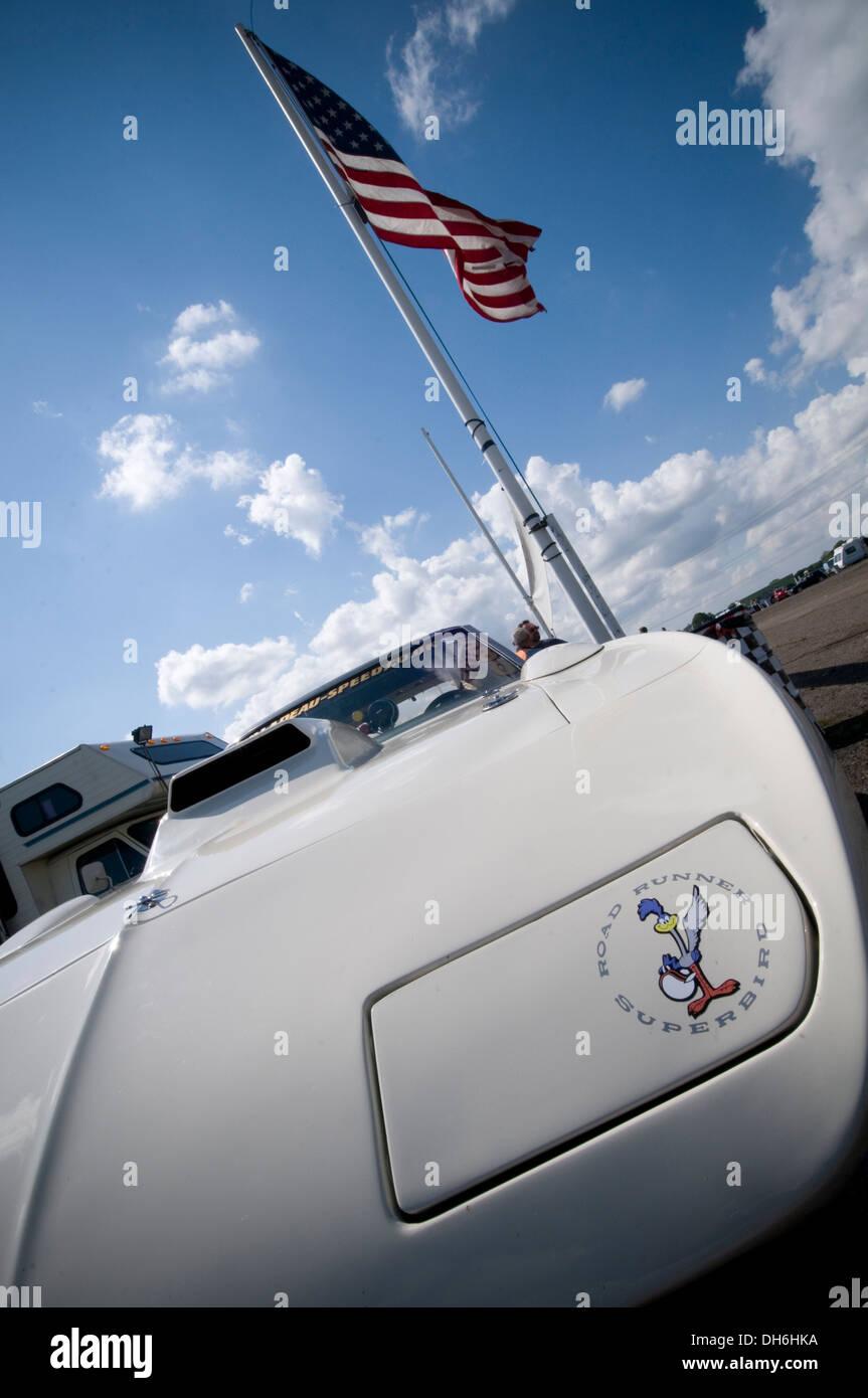 Plymouth superbird muscle car cars roadrunner road runner classic Chrysler mopar mopars - Stock Image