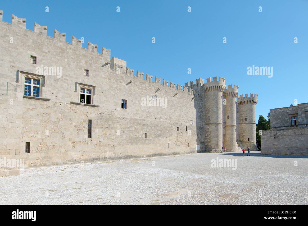 The fortress, island Rhodes, Greece - Stock Image