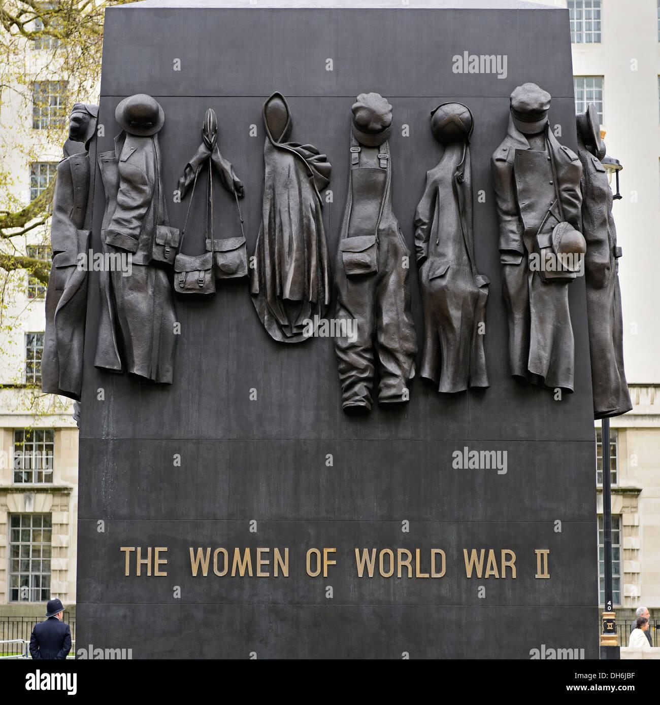 Monument to the Women of World War II, Whitehall, London, UK. - Stock Image