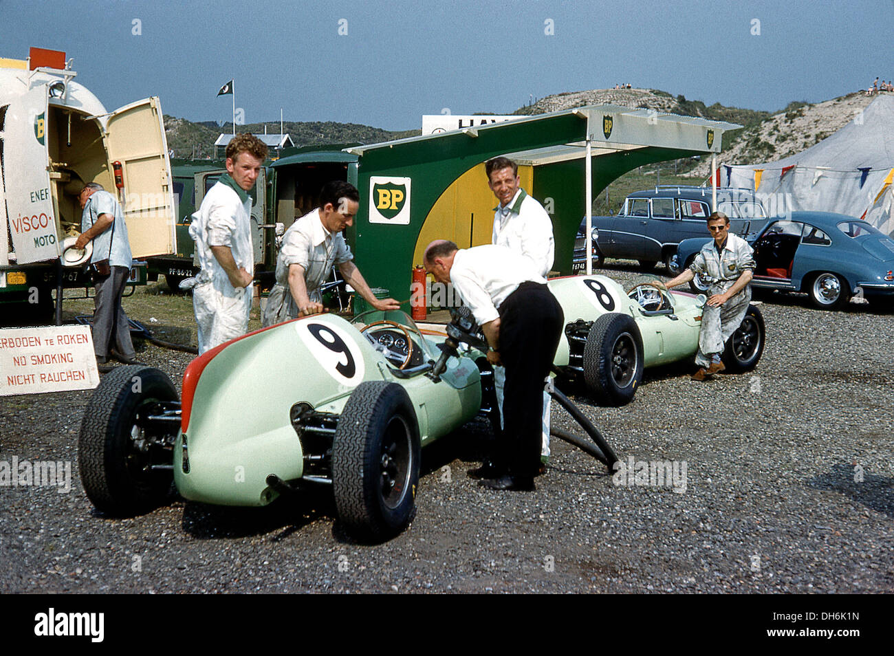 yeoman credit racing team in the paddock at the dutch grand prix stock photo 62226913 alamy. Black Bedroom Furniture Sets. Home Design Ideas