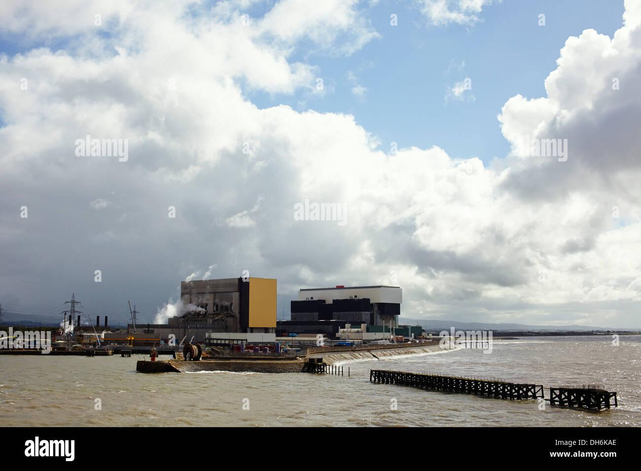 Heysham nuclear power station, Lancashire UK - Stock Image