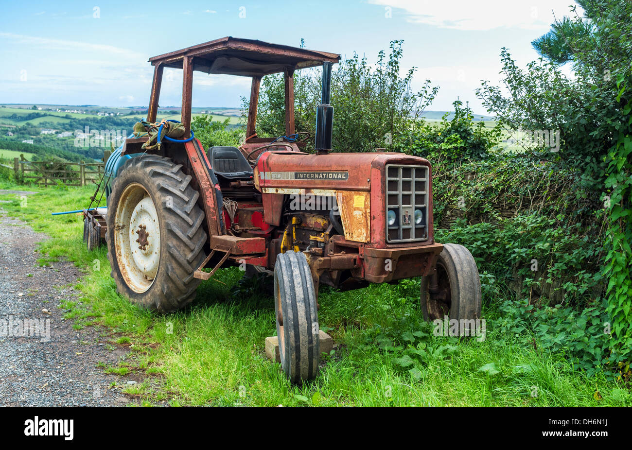 An Old Slightly Rusty 574 International Farm Tractor In