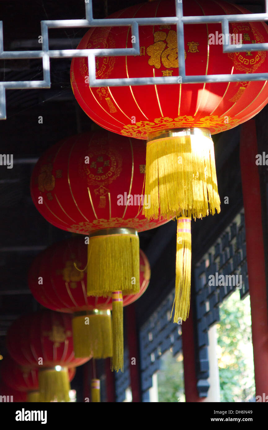 Chinese Lantern Lamp Electricity Light China Stock Photo Alamy