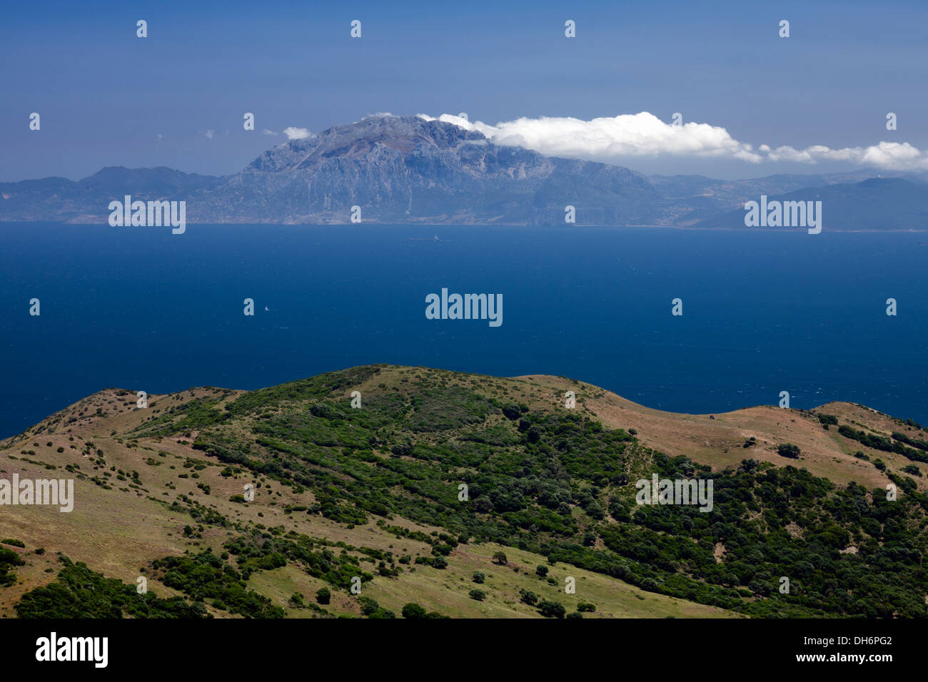 Strait of gibraltar pillars of hercules stock photos - Moroccan port on the strait of gibraltar ...