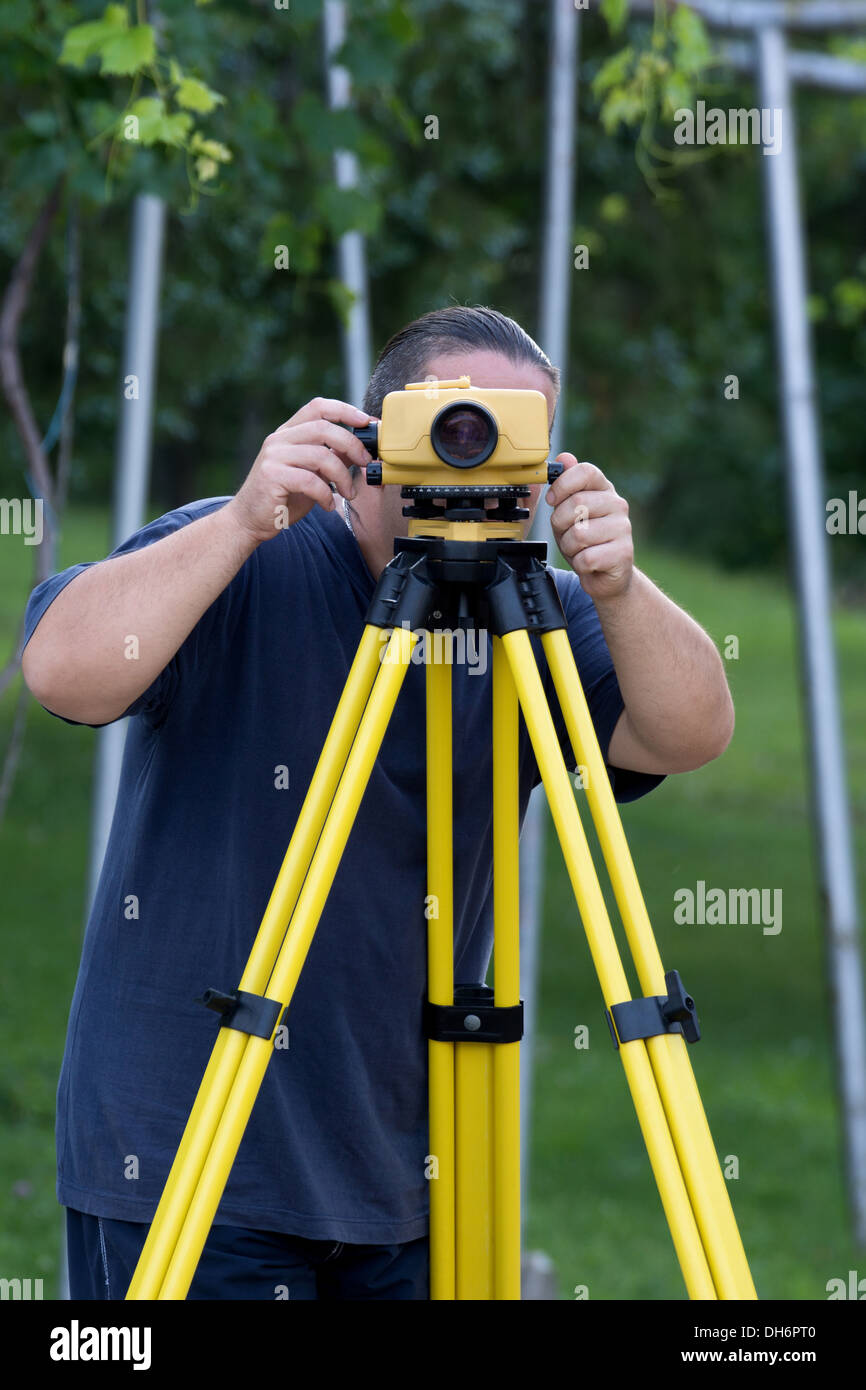 Land surveyor - Stock Image