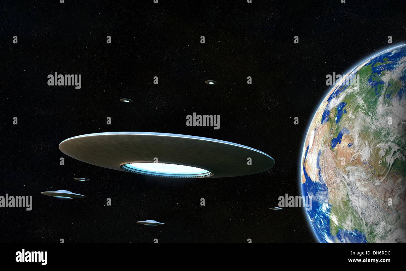 UFO - Stock Image