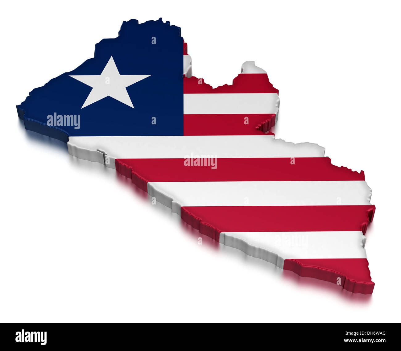 Liberia (clipping path included) - Stock Image