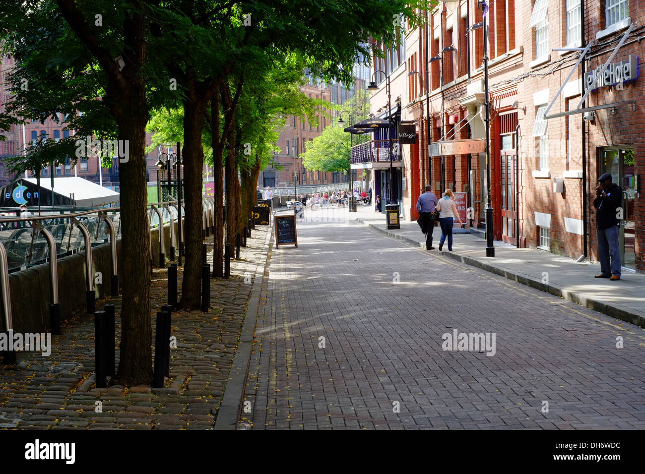 Canal Street in Manchester's 'Gay Village' Manchester City Centre. - Stock Image