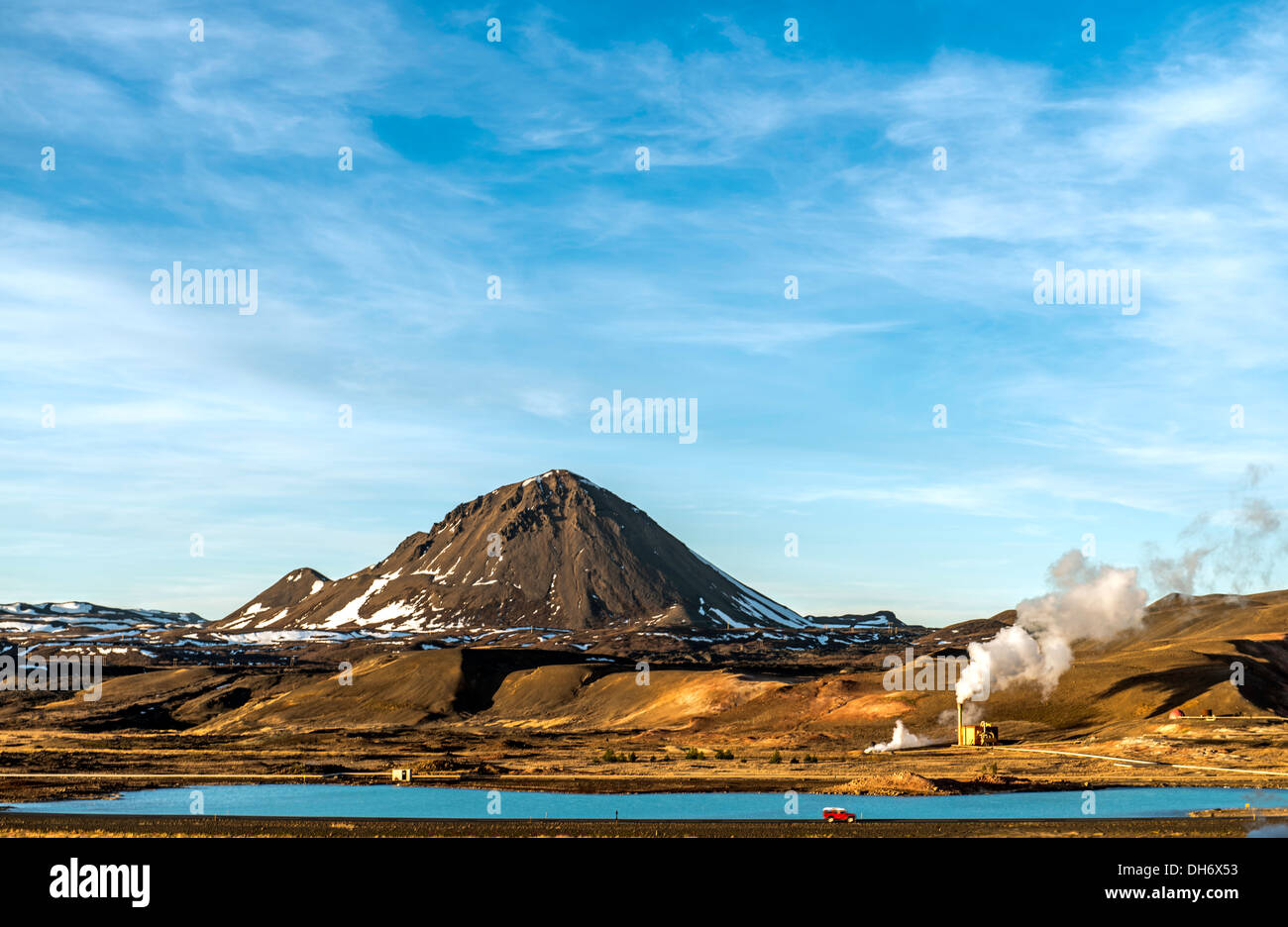 Mudpot or mud pool North Iceland Europe - Stock Image