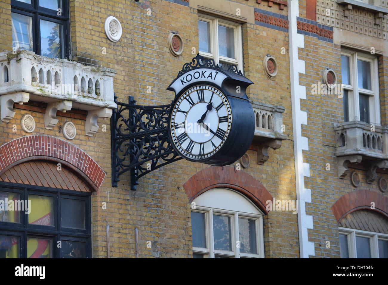 Clock in Croydon High Street. - Stock Image